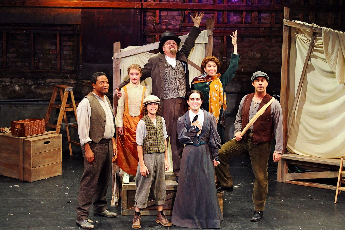 Cast of the 2104 Production of Liberty at Theatre 80 St. Marks, NYC