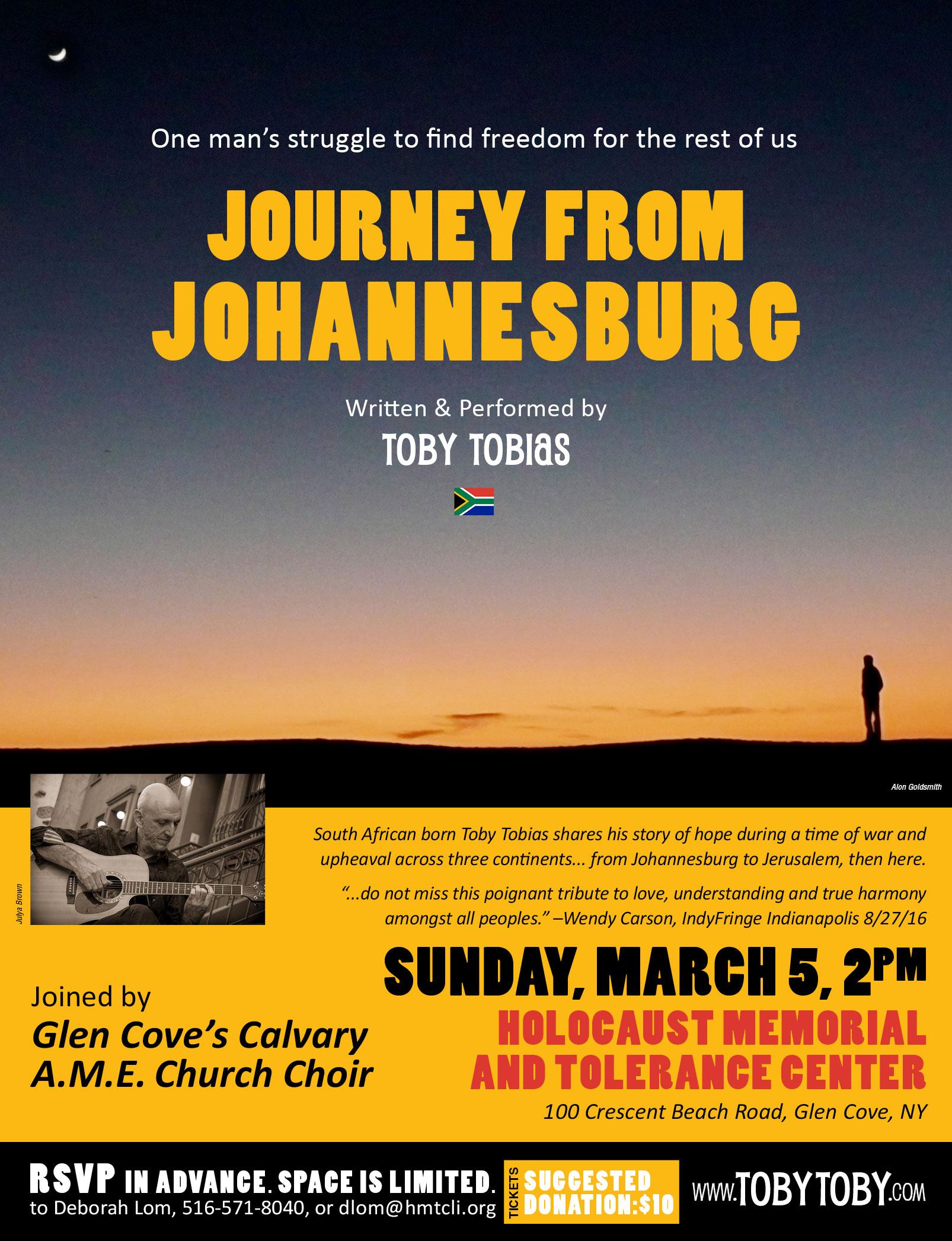 Journey From Johannesburg at the Holocaust Memorial & Tolerance Center of Glen Cove
